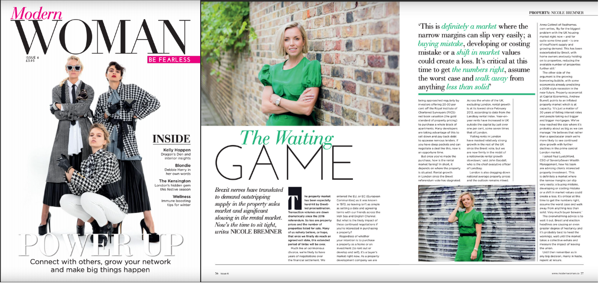 The waiting game: Modern Woman magazine issue 6